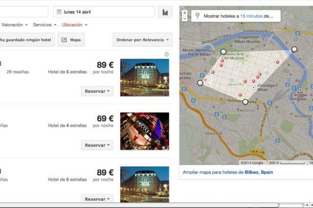 mapas de google hotel finnder