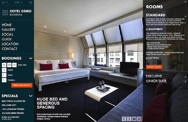 Maqueta de la nueva web para hoteles