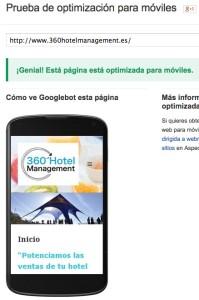 Como se ve la web de 360hotelmanagement.es en los móviles