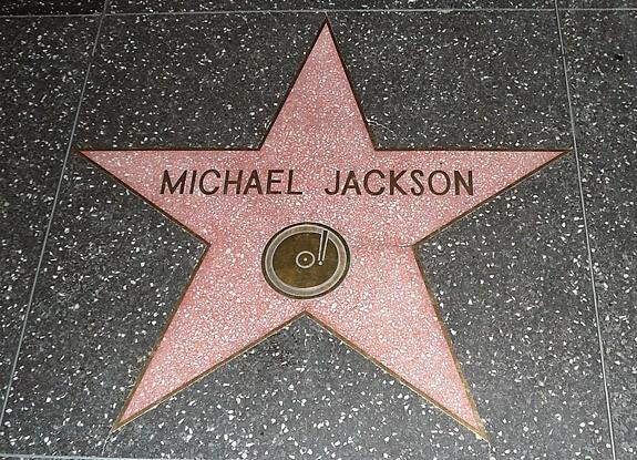 estrella de michael jackson en el paseo de la fama