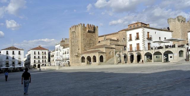 Mi primer viaje a Cáceres, una sorpresa realmente agradable. La plaza mayor de cáceres