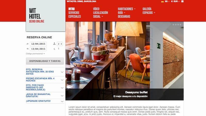 ejemplo de pagina web de un hotel