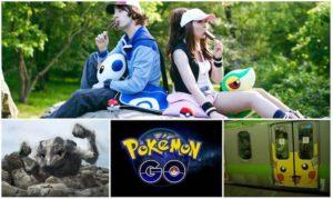 buscadores de pokemon sentados