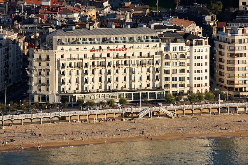 fachada del hotel de Londres y de Inglaterra
