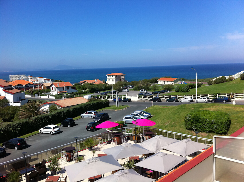 vistas desde el hotel le biarritz