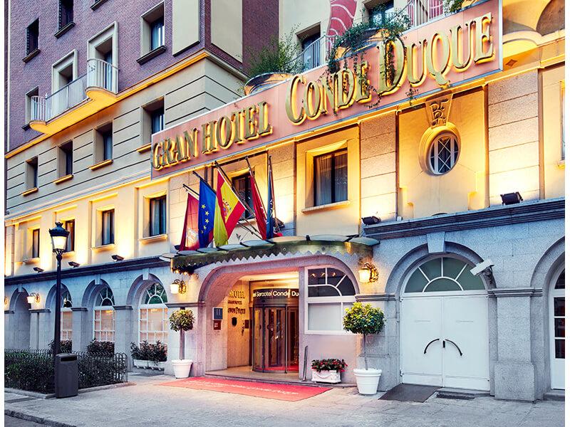 fachada hotel conde duque