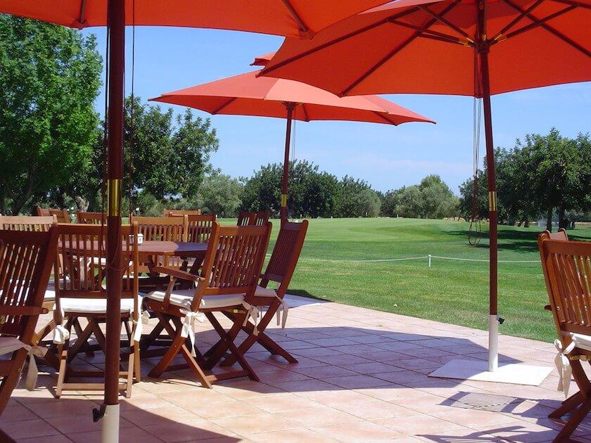 vista del golf y la terraza