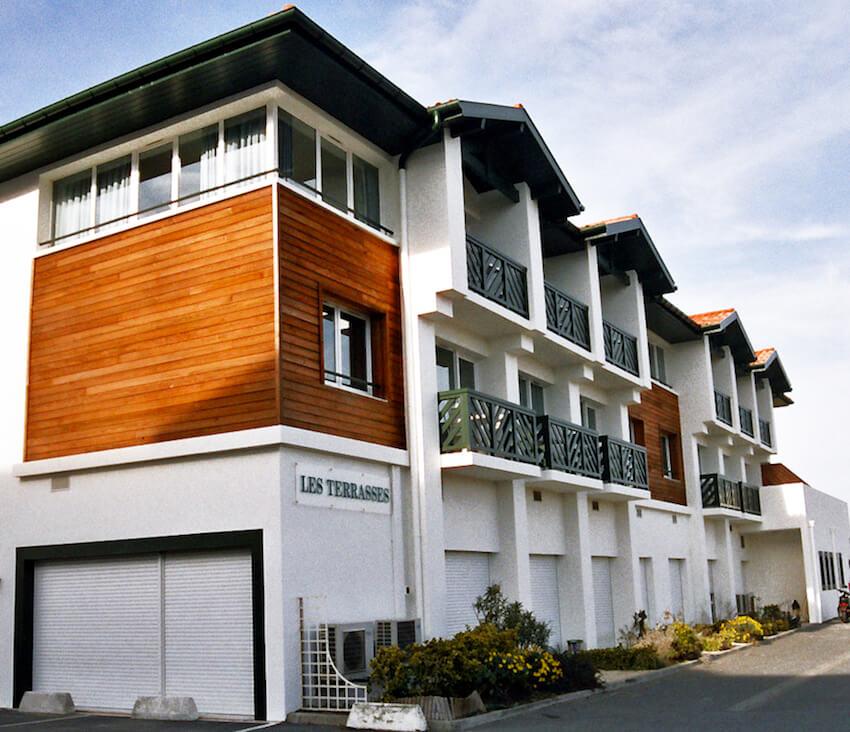 fachada exterior de les terrasses