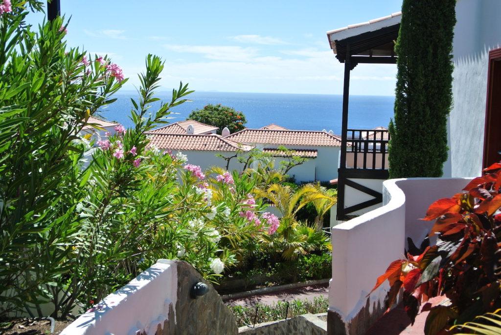 El Hotel Jardín de Tecina en La Gomera, Canarias.
