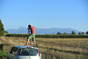 Eduardo fotografiando los Pirineos.
