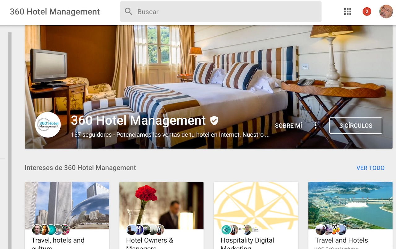 Pantallazo de la página de 360 Hotel Management en Google My Business.