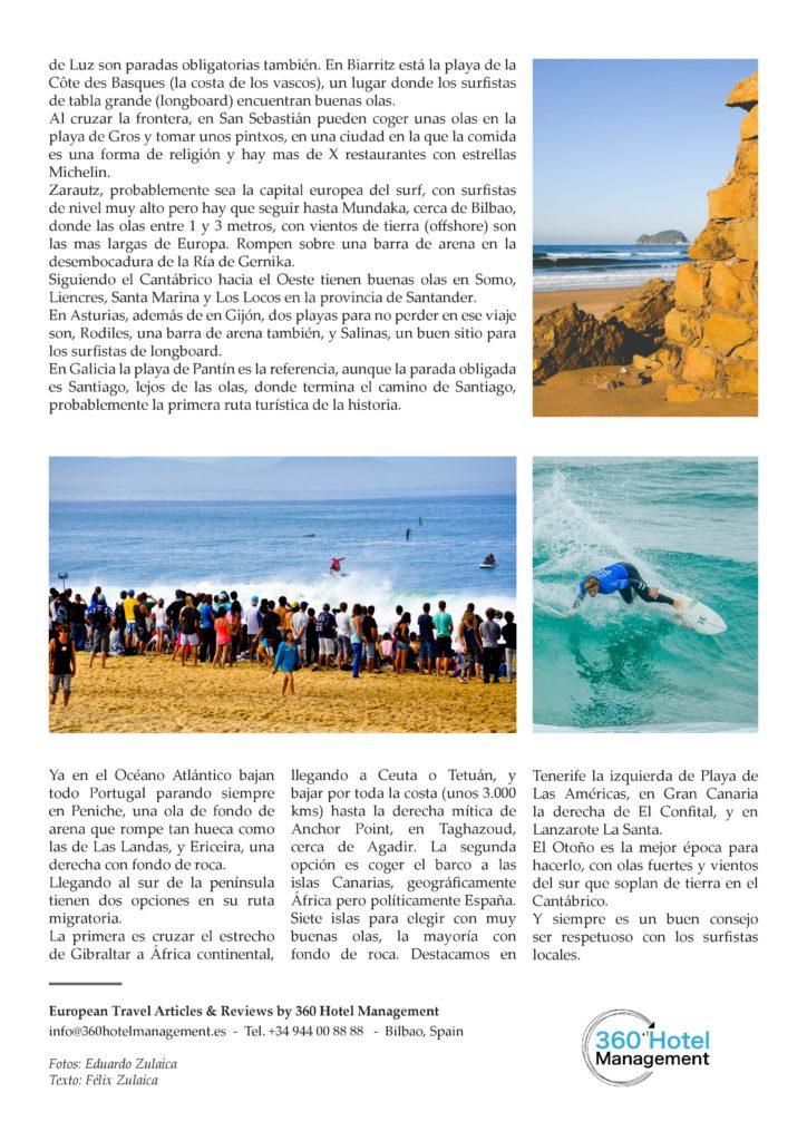 Europa destino de surf para australianos 2