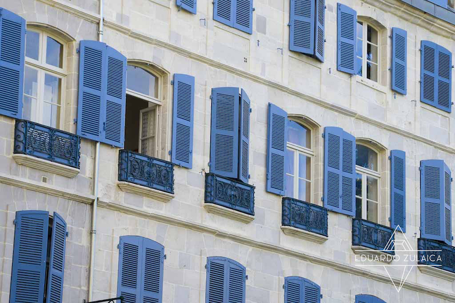 Bayonne's houses. France.