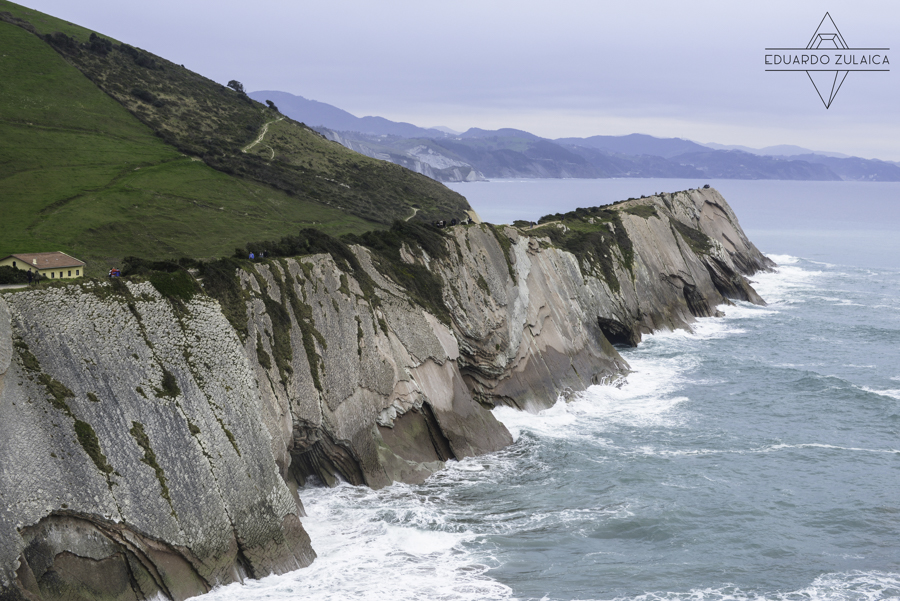 Zumaia's flysch, the view from San Telmo's little church.