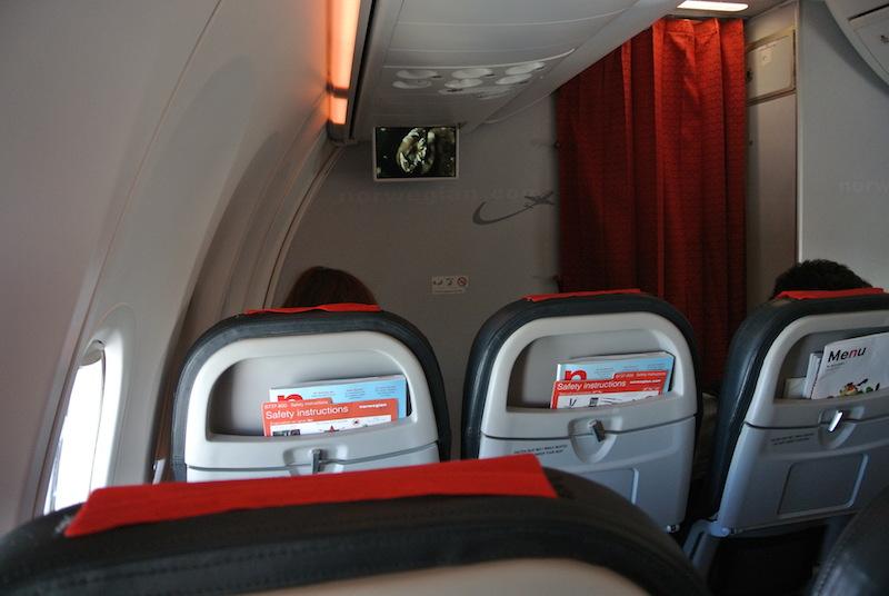 Cabina Norwegian 800 en vuelo