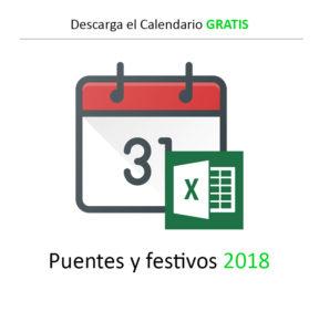 Calendario Punetes y Festivos 2018