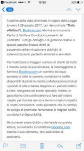booking italia comunicado fin paridad