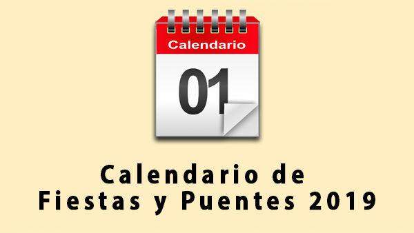 calendario fiestas y puentes 2019
