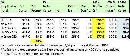 Precios Promo 20 Curso online Revenue Management Bonificable Fundae