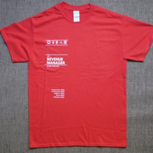 Camiseta Revenue Management Rojo Chico 800