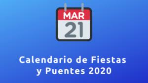 Calendario de Fiestas y Puentes 2020 España para hoteles