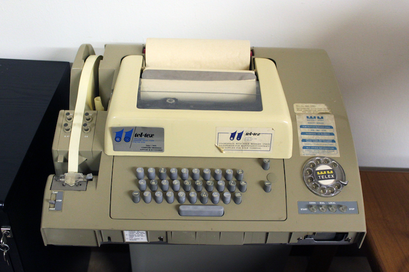 Esto es un telex
