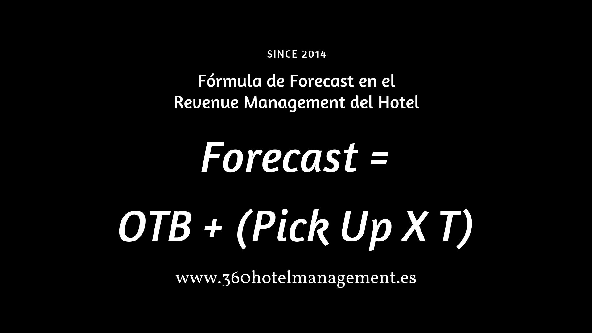 Formula para calcular el Forecast en Revenue Management de los hoteles