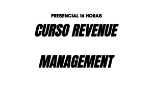Curso REVENUE MANAGEMENT MADRID