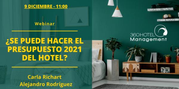 Webinar ¿Se puede hacer el Presupuesto 2021 del hotel?