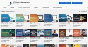Mosaico de videos de Webinars de 360 Hotel Management
