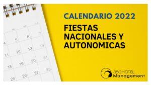 Calendario 2022 Fiestas nacionales y autonomicas